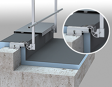 garde corps en aluminium pour toitures inaccessibles. Black Bedroom Furniture Sets. Home Design Ideas